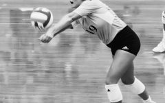 Kelsie Stovall, a senior libero from Nebraska City, Nebr., is the only senior on NWU's volleyball team this year.